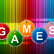 Games Play Means Gamer Leisure And Entertainment — Stock Photo #54206693