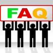 Frequently Asked Questions Shows Asking Info And Faq — Stock Photo #54207681