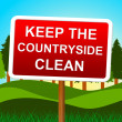 Keep Countryside Clean Represents Untouched Environment And Landscape — Stock Photo #54208061