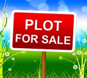 Plot For Sale Represents Real Estate Agent And Lands — Stock Photo