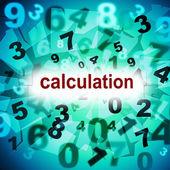 Calculation Mathematics Indicates One Two Three And Numeric — Stock Photo
