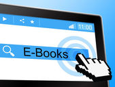 E Books Shows World Wide Web And Online — Stock Photo