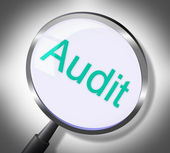 Magnifier Audit Represents Auditing Research And Verification — Stock Photo