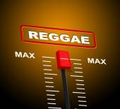 Reggae Music Indicates Acoustic Recording And Melody — Stock Photo