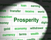 Prosper Prosperity Means Investment Money And Wealthy — Stock Photo