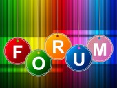 Forums Forum Means Social Media And Site — Stock Photo