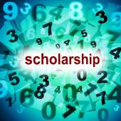 Scholarship Education Represents College Academy And Graduating — Stock Photo