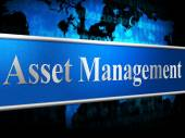 Asset Management Means Business Assets And Administration — Stock Photo