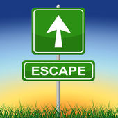 Escape Sign Represents Get Away And Arrow — Stock Photo