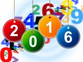 New Year Means Two Thousand Sixteen And Celebrate — Stockfoto