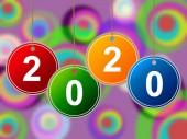 New Year Shows Celebrations Twenty And Celebration — Stock Photo