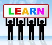 Lernen lernen bedeutet Erziehung, Betreuung und college — Stockfoto