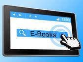 E Books Indicates World Wide Web And Website — Stock Photo