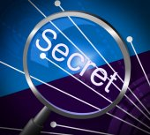 Magnifier Secret Represents Magnify Discreet And Searching — Stock Photo