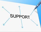 Support Supporting Represents Counselling Helping And Assist — Stock Photo