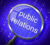 Public Relations Means Press Release And Magnification — Stock Photo
