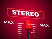 Stereo Music Represents Sound Track And Acoustic — Zdjęcie stockowe