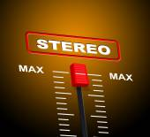 Stereo Music Shows Sound Track And Audio — Stockfoto