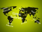 Global Business Represents Globalize Commercial And Globalisation — Stock Photo