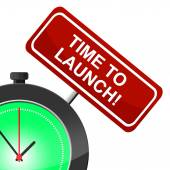 Time To Launch Shows Don't Wait And Beginning — Stock Photo