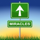 Miracles Sign Indicates Message Religion And Belief — Stock Photo