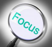 Magnifier Focus Means Search Attention And Magnification — Stock Photo