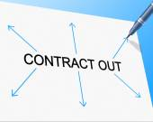 Contract Out Indicates Independent Contractor And Freelance — Stockfoto