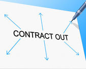Contract Out Indicates Independent Contractor And Freelance — Stock Photo
