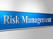 Risk Management Shows Directors Unsafe And Risks — Stock Photo