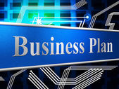 Business Plan Shows Project Plans And Formula — Stock Photo