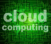 Cloud Computing Means Computer Network And Cloud-Computing — Stock Photo