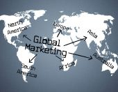 Global Marketing Indicates Planet Globalise And Globalisation — Stock Photo