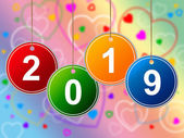 New Year Means Two Thousand Nineteen And Annual — Stockfoto