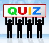 Quiz exame significa perguntas e respostas e exame — Fotografia Stock