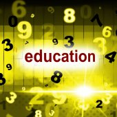 Educate Education Indicates School College And Schooling — Stock Photo