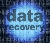 Data Recovery Shows Getting Back And Bytes — Stock Photo
