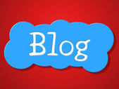 Blog Sign Represents Weblog Blogger And Message — Stock Photo