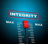 Integrity Max Means Upper Limit And Sincerity — Stock Photo
