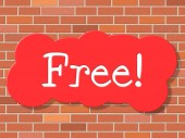 Free Sign Shows With Our Compliments And Display — Stock Photo