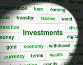 Investments Invest Represents Invested Investing And Shares — Foto Stock