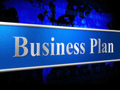 Business Plan Means Idea Commerce And Stratagem — Stock Photo