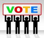 Vote Poll Represents Decide Elect And Choosing — Stock Photo