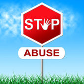 Stop Abuse Represents Sexually Assault And Caution — Stock Photo