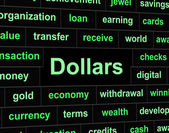Dollars Finances Represents United States And American — Foto Stock