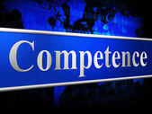 Competent Competence Indicates Skill Capacity And Skilfulness — Stock Photo