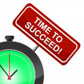 Time To Succeed Means Victor Victors And Progress — Stock Photo