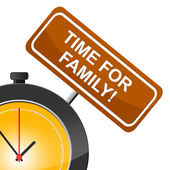 Time For Family Means Blood Relation And Children — Stock Photo