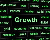 Growth Finances Represents Investment Improve And Profit — Stock Photo