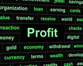 Revenue Profit Shows Profits Lucrative And Earning — Stock Photo
