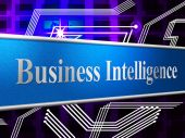 Business Intelligence Shows Brains Sharpness And Acumen — Stock Photo